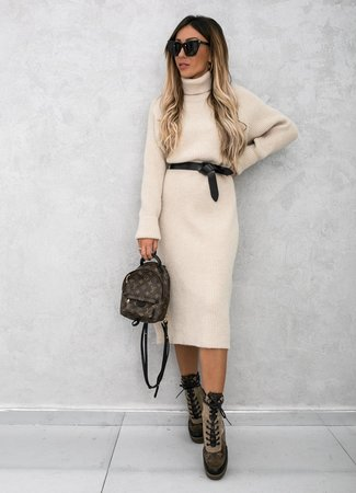 TESS V Ruby dress beige