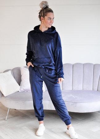 TESS V Velvet lounge set blue
