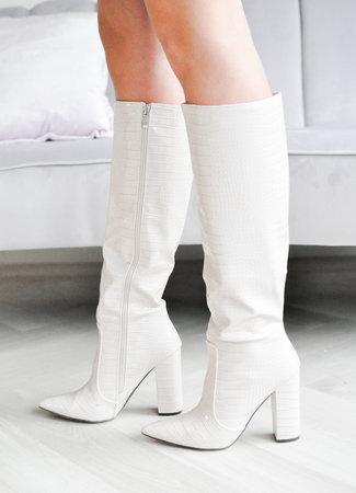 Nina snake heels beige