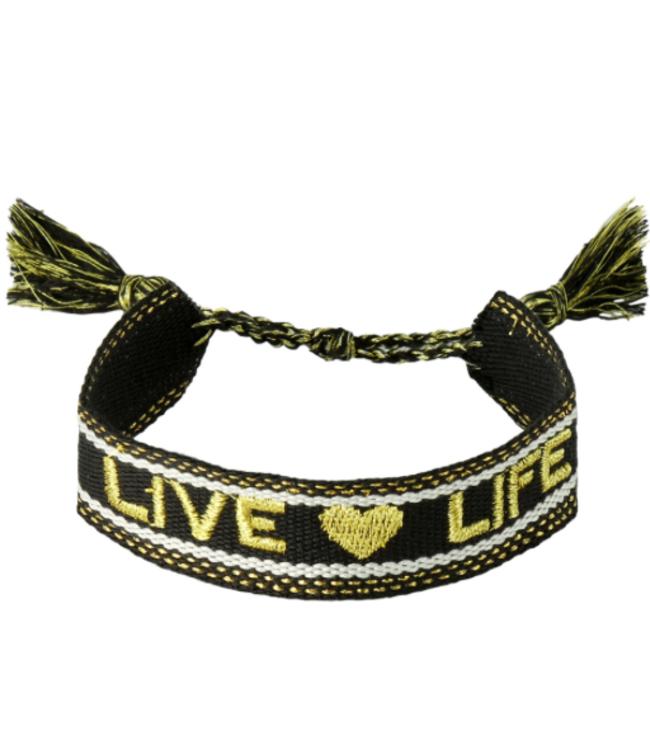 Woven bracelet live life