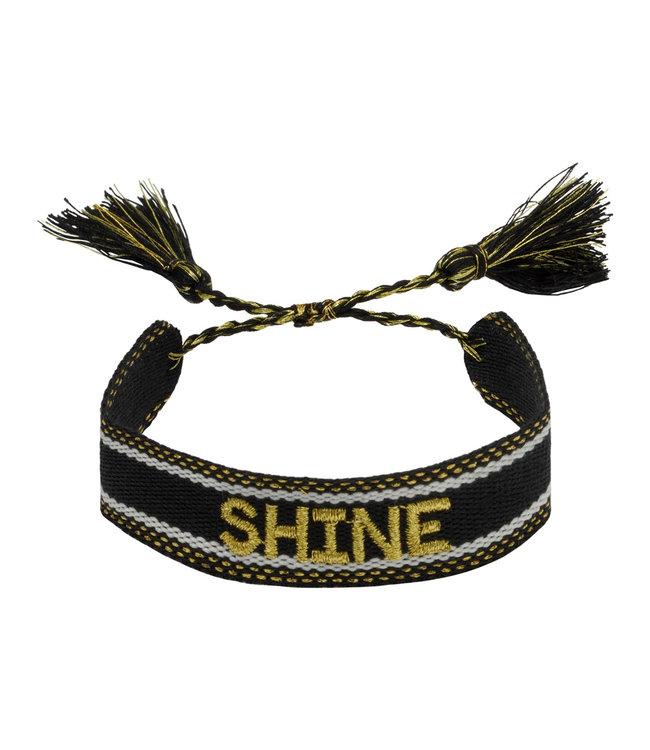 Woven bracelet shine