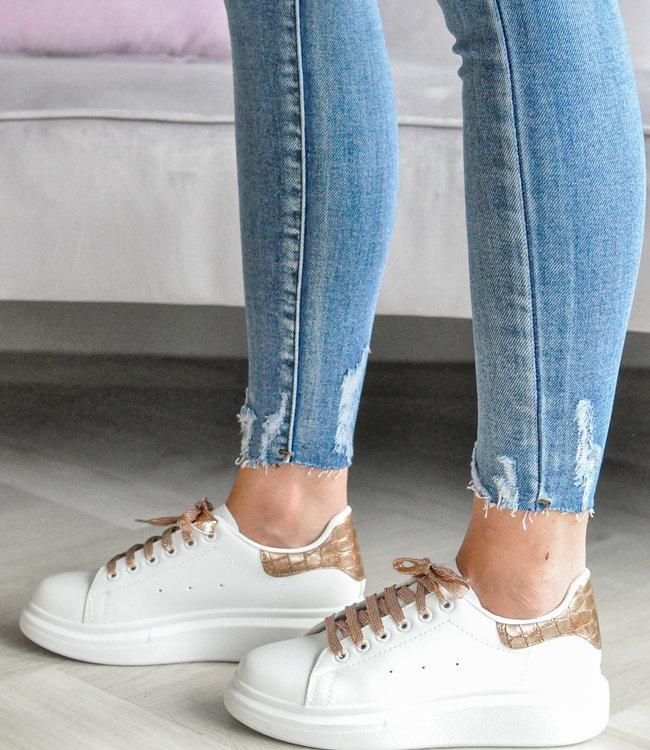 Alexie sneakers brown croco