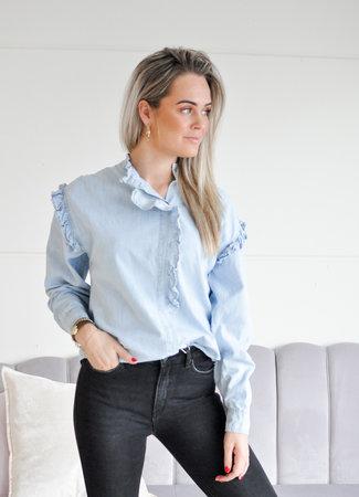 TESS V July denim blouse