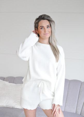 Carly comfy set white