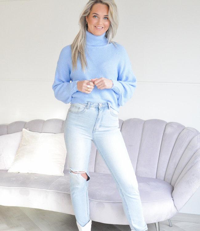 Nila knit blue