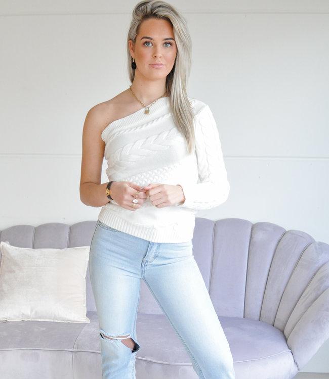 Saar knit white