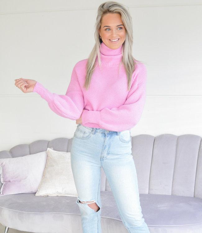 Nila knit pink