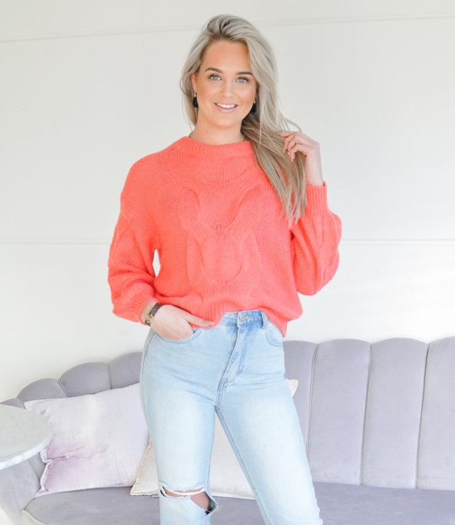 TESS V Tatum sweater orange