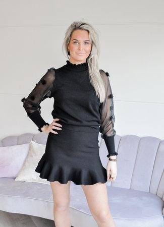 TESS V Claartje skirt black
