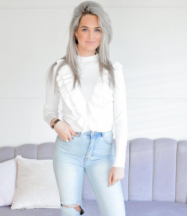 TESS V Famke sweater white
