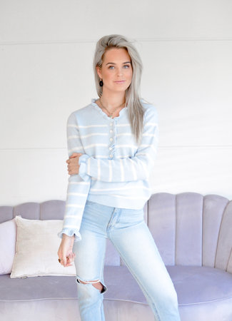 TESS V Livia sweater stripe blue