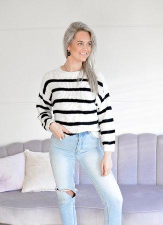 TESS V Dreamer knit white
