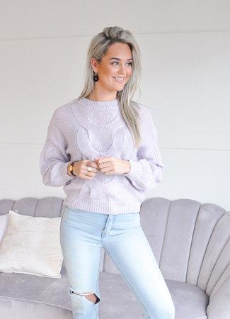 TESS V Tatum sweater lila