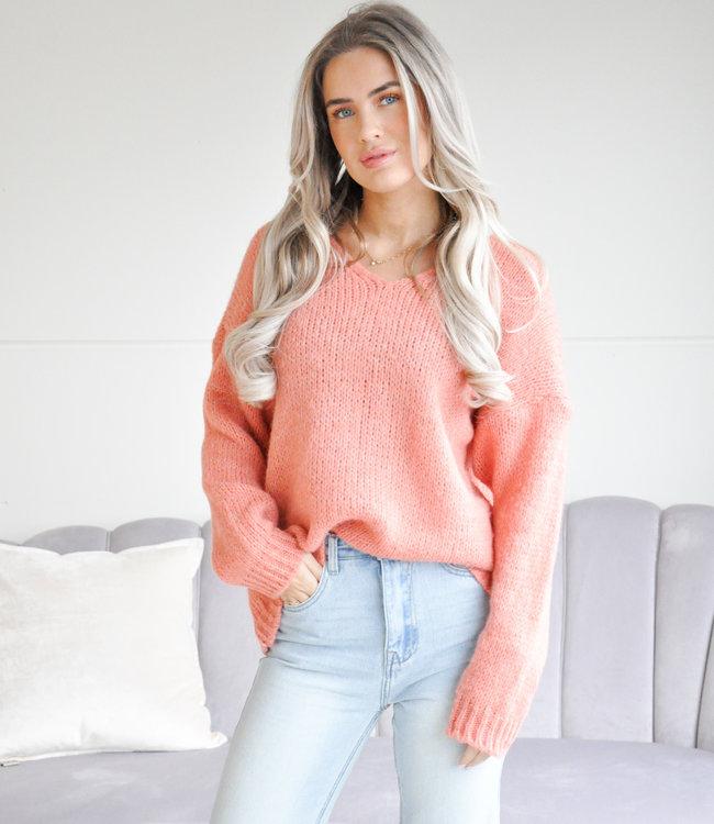 Tara sweater coral