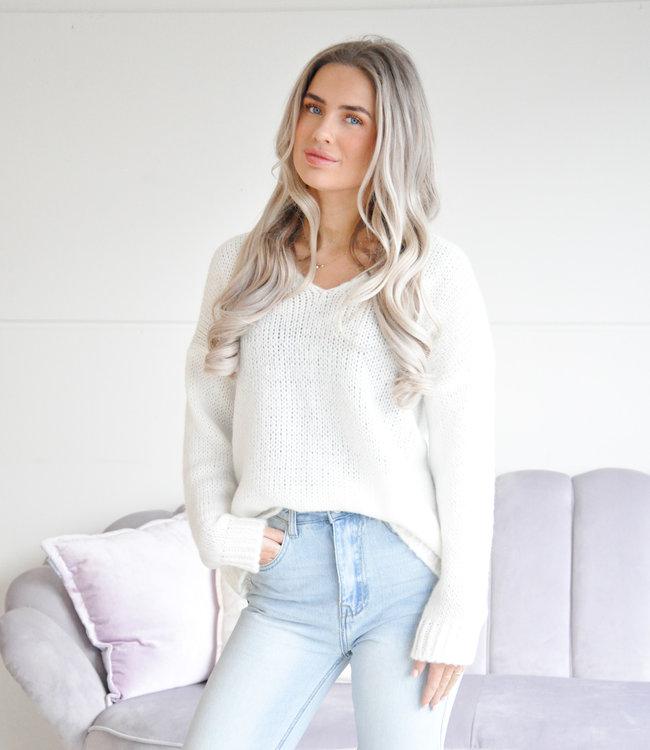 Tara sweater off white