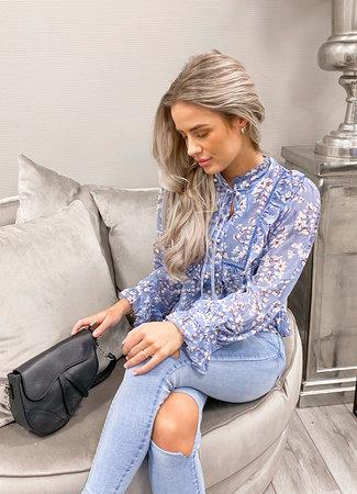 TESS V Daiwy  blouse blue