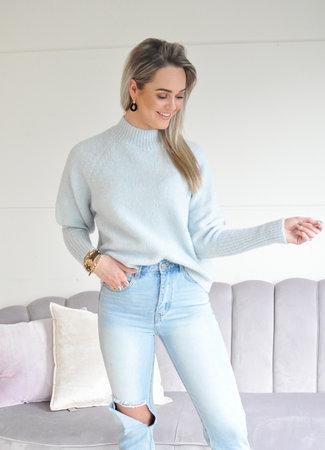 TESS V Isabelle sweater light blue