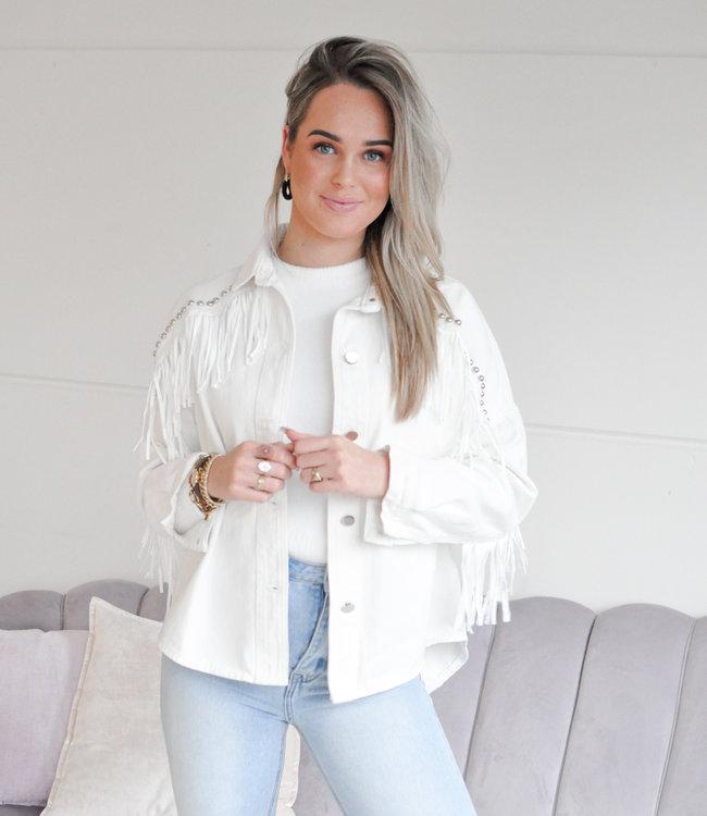 Moon jacket white