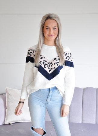 TESS V Bayli sweater white