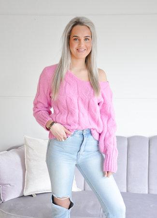Esmee knit pink