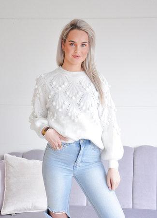 TESS V Mina sweater white