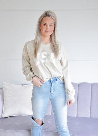 TESS V USA sweater beige