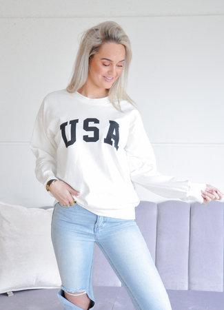 TESS V USA sweater white