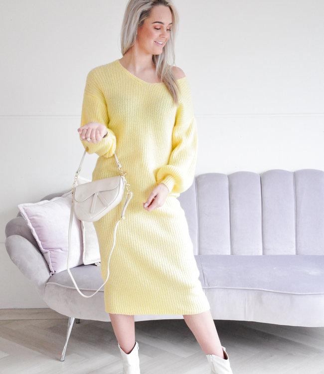Aliza dress yellow