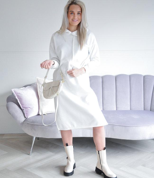 Hoodie dress white