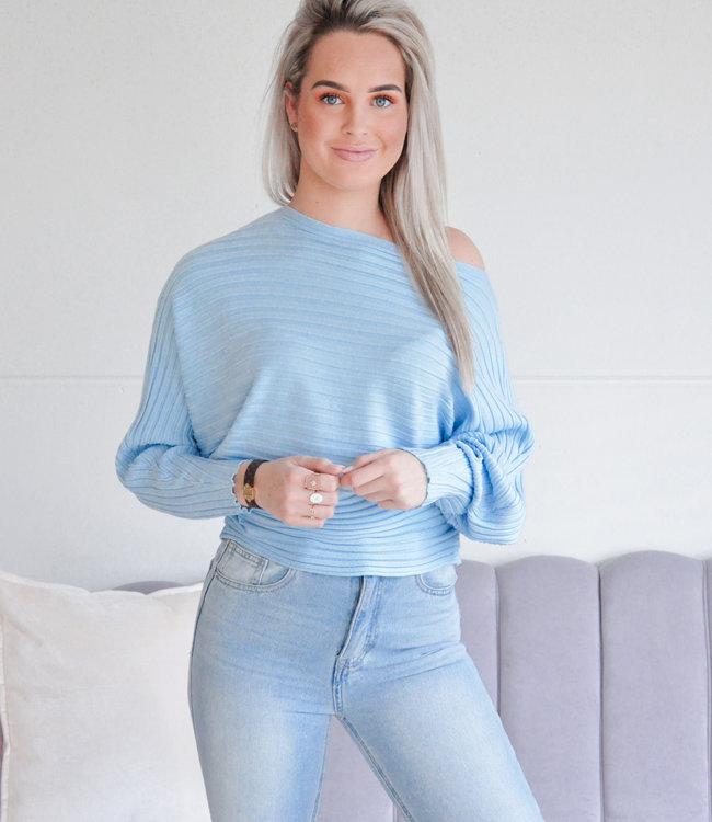 Anna top blue