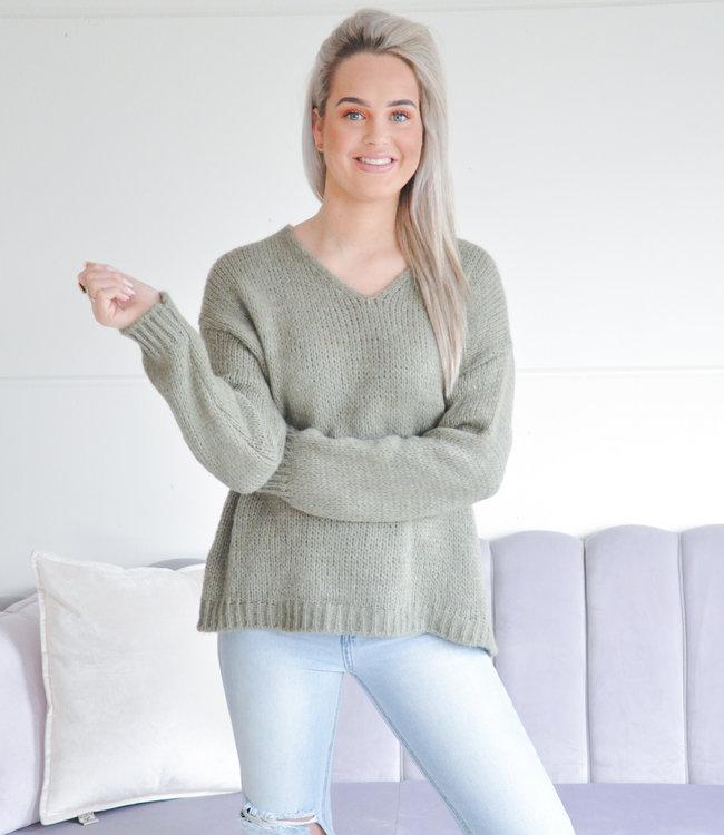 Tara sweater green