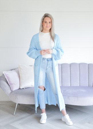 TESS V Quinty vest light blue