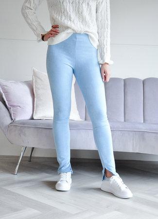 Suede blue pants