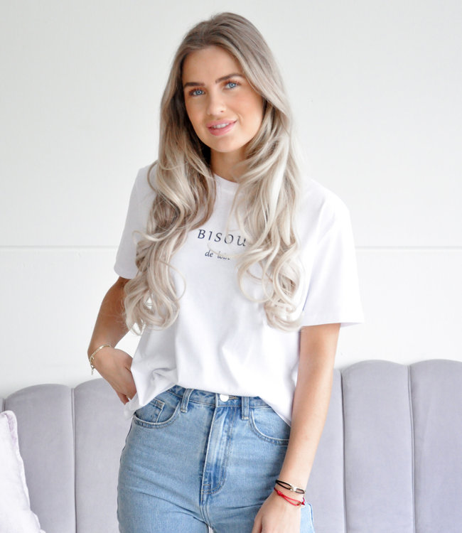 Bisou tee white
