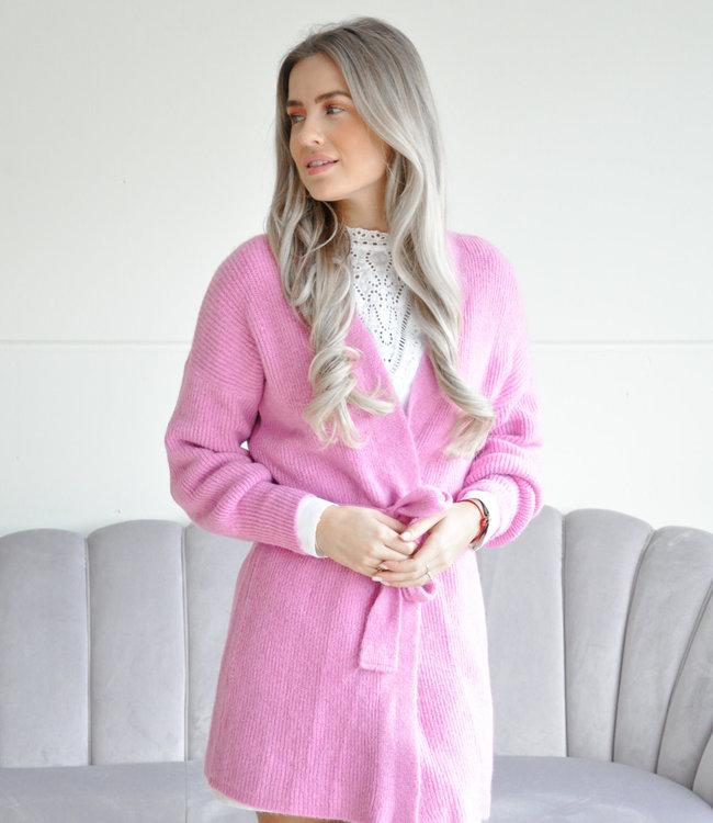 Knoop vest pink