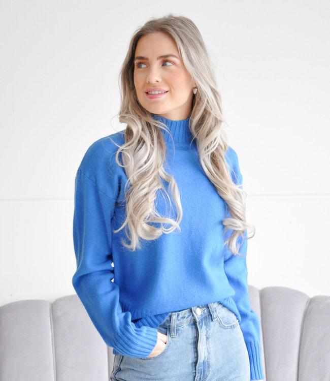 Nicolie sweater kobalt