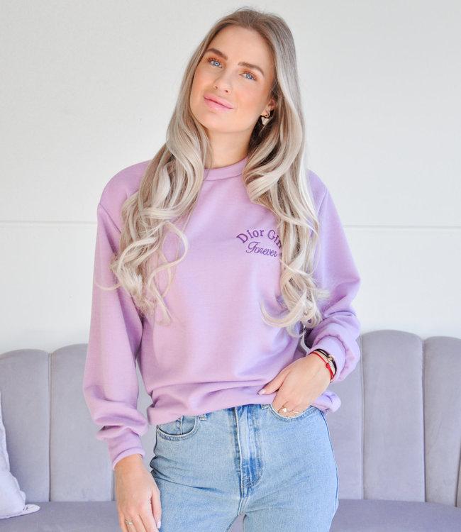 Girl sweater lila