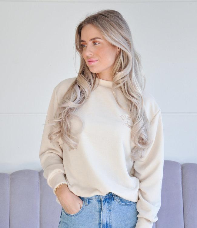 Girl sweater beige