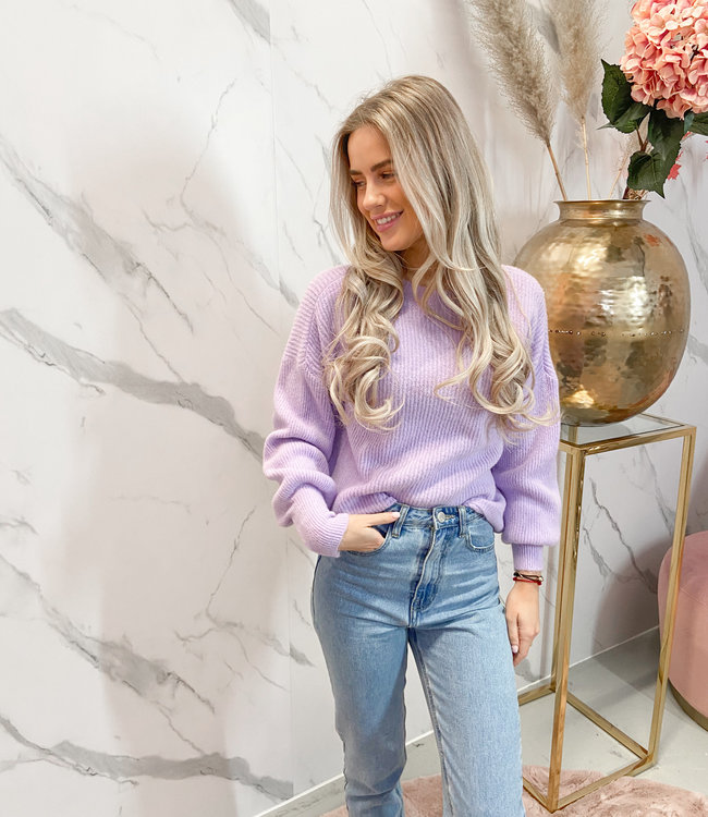 Rosa knit lila