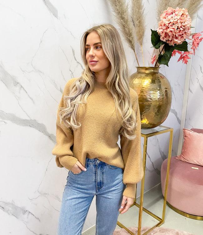 Rosa knit camel