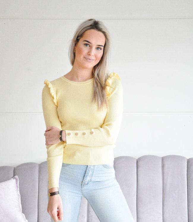 Julia ruffle top yellow