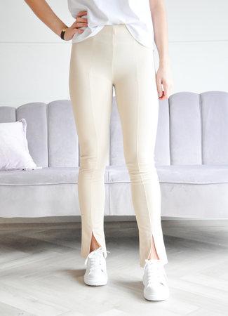 Noa split legging beige