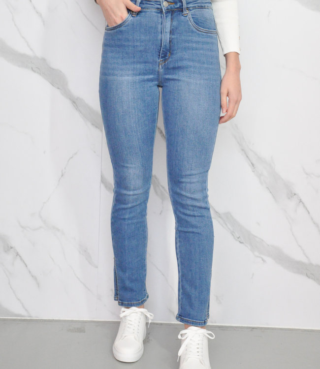 Cece split jeans blue