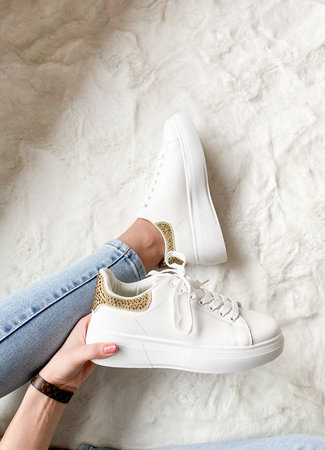 Alexie sneakers gold glitter