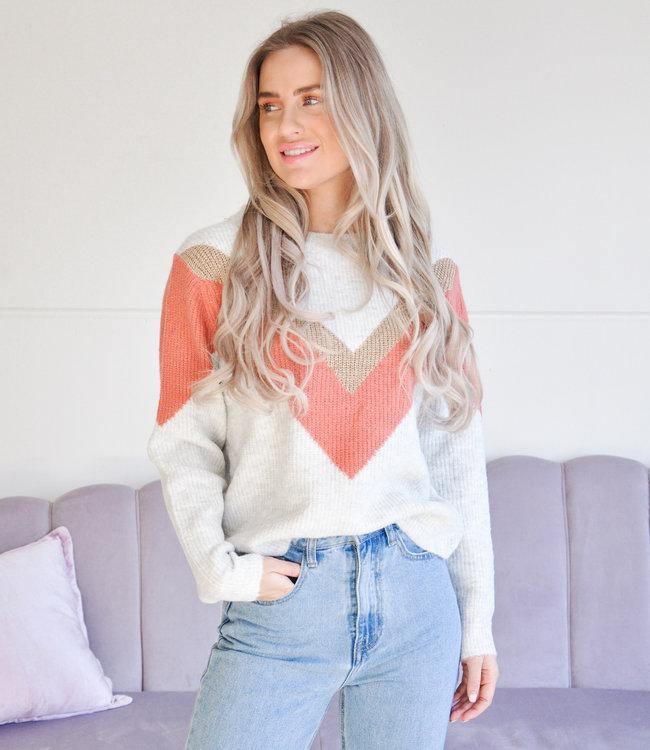 Alida knit orange