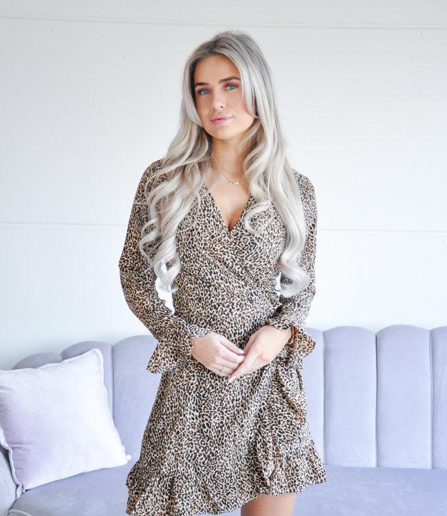 Kristin leopard dress