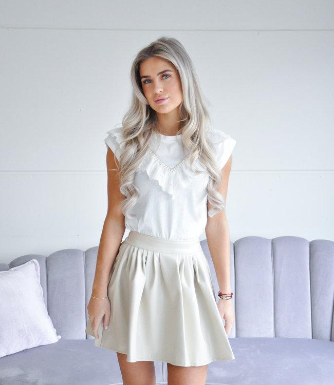 Lea tee white