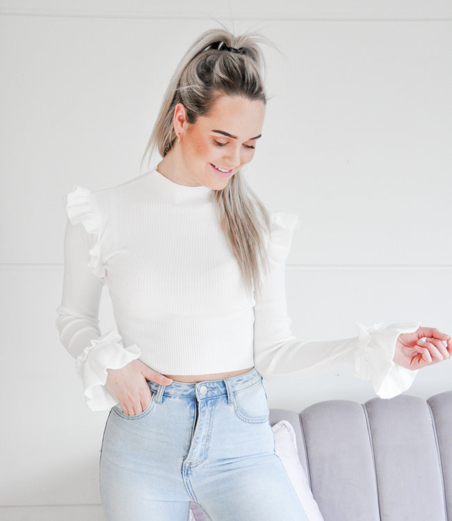 Eef ruffle top white