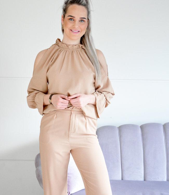 Meg blouse beige