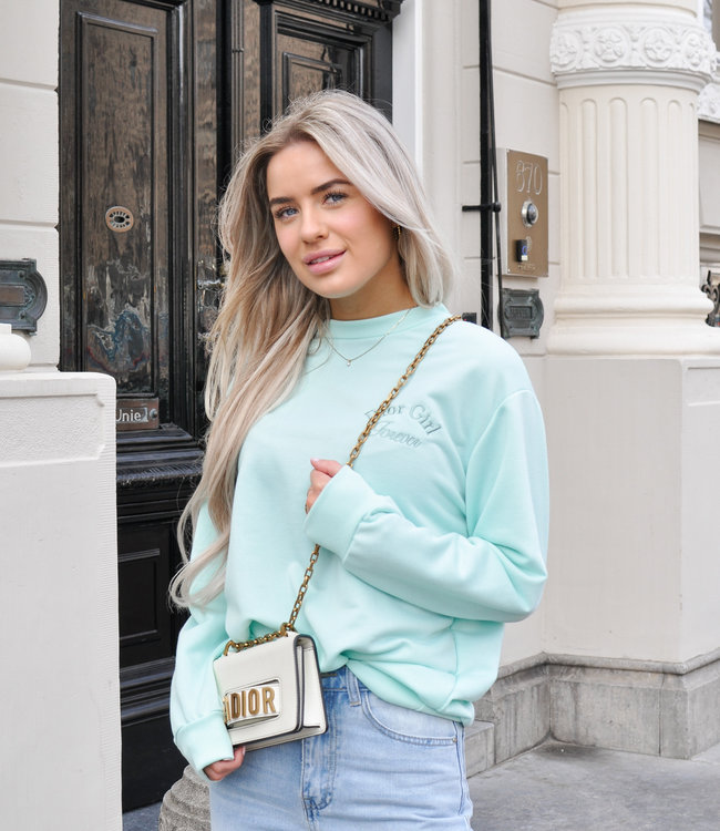 Girl sweater mint